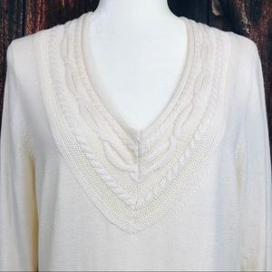 Banana Republic Wool Cream Pullover Knit Sweater